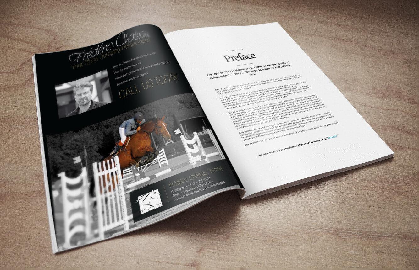 Création graphique et mise ne page d'un encart publicitaire pour une parution dans un magazine spécialisé.