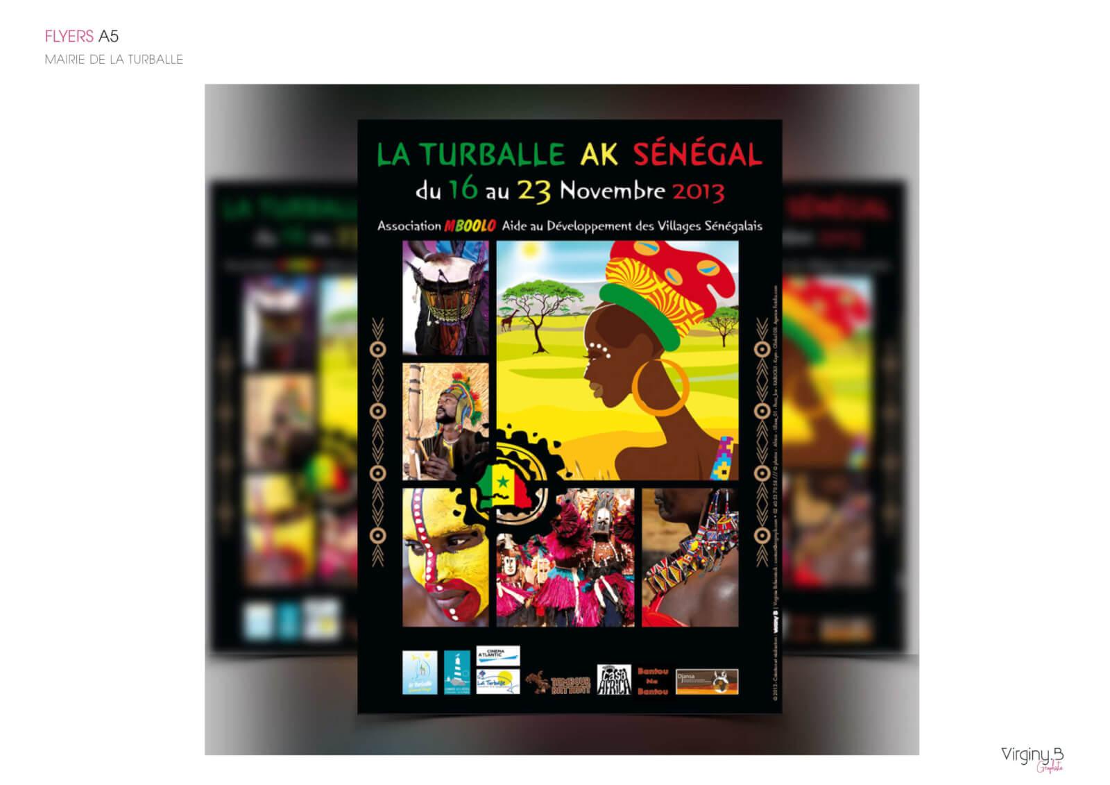 Création graphique flyer - Mairie de la Turballe