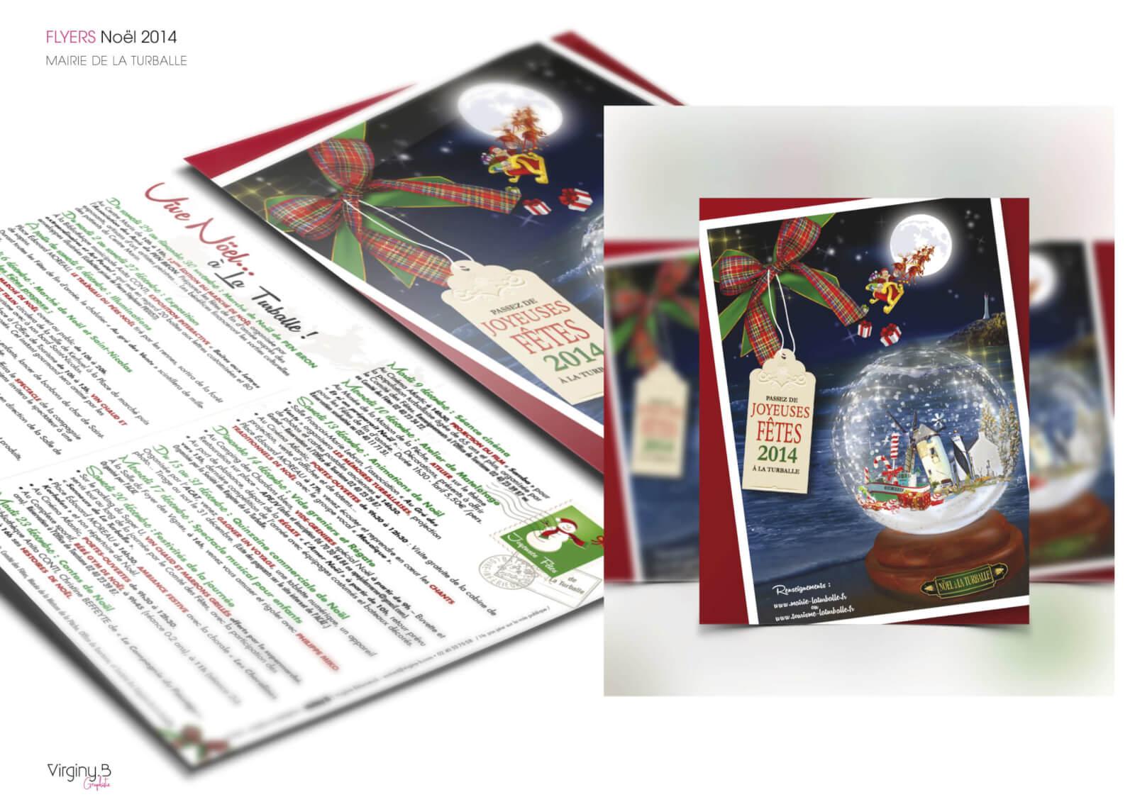 Création graphique flyer Noël - Mairie de la Turballe