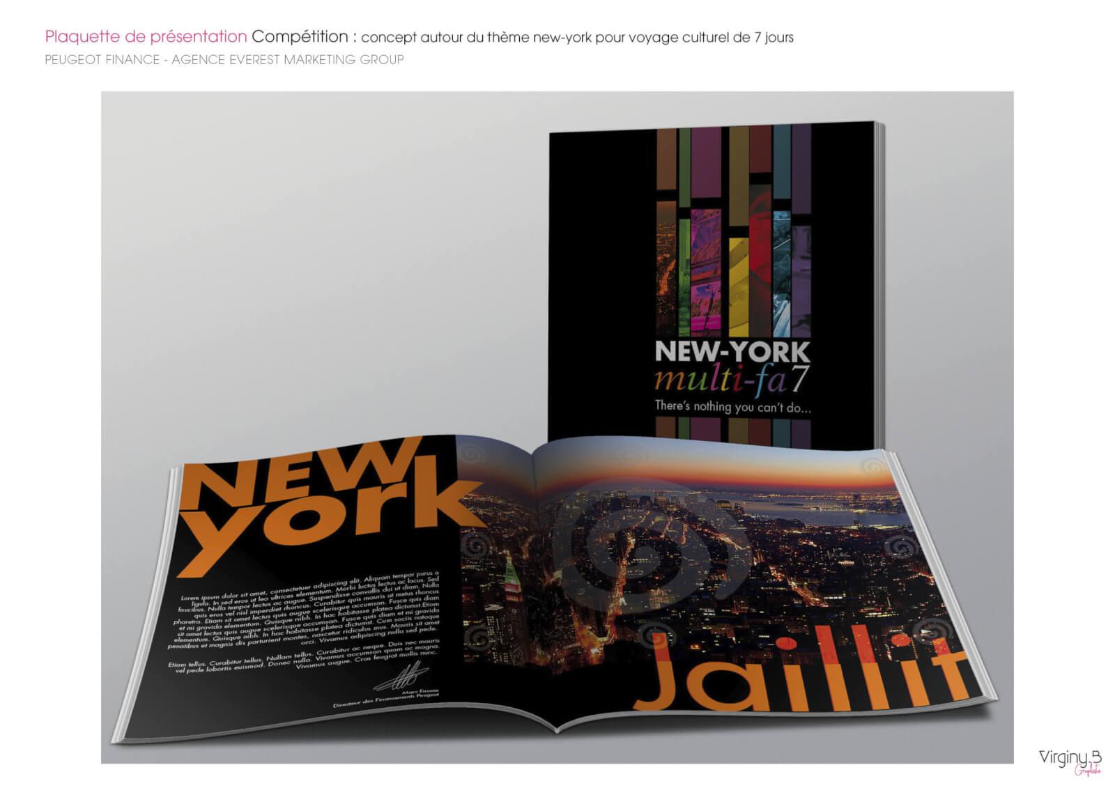 Création du concept graphique autour du thème new-york Peugeot Finance