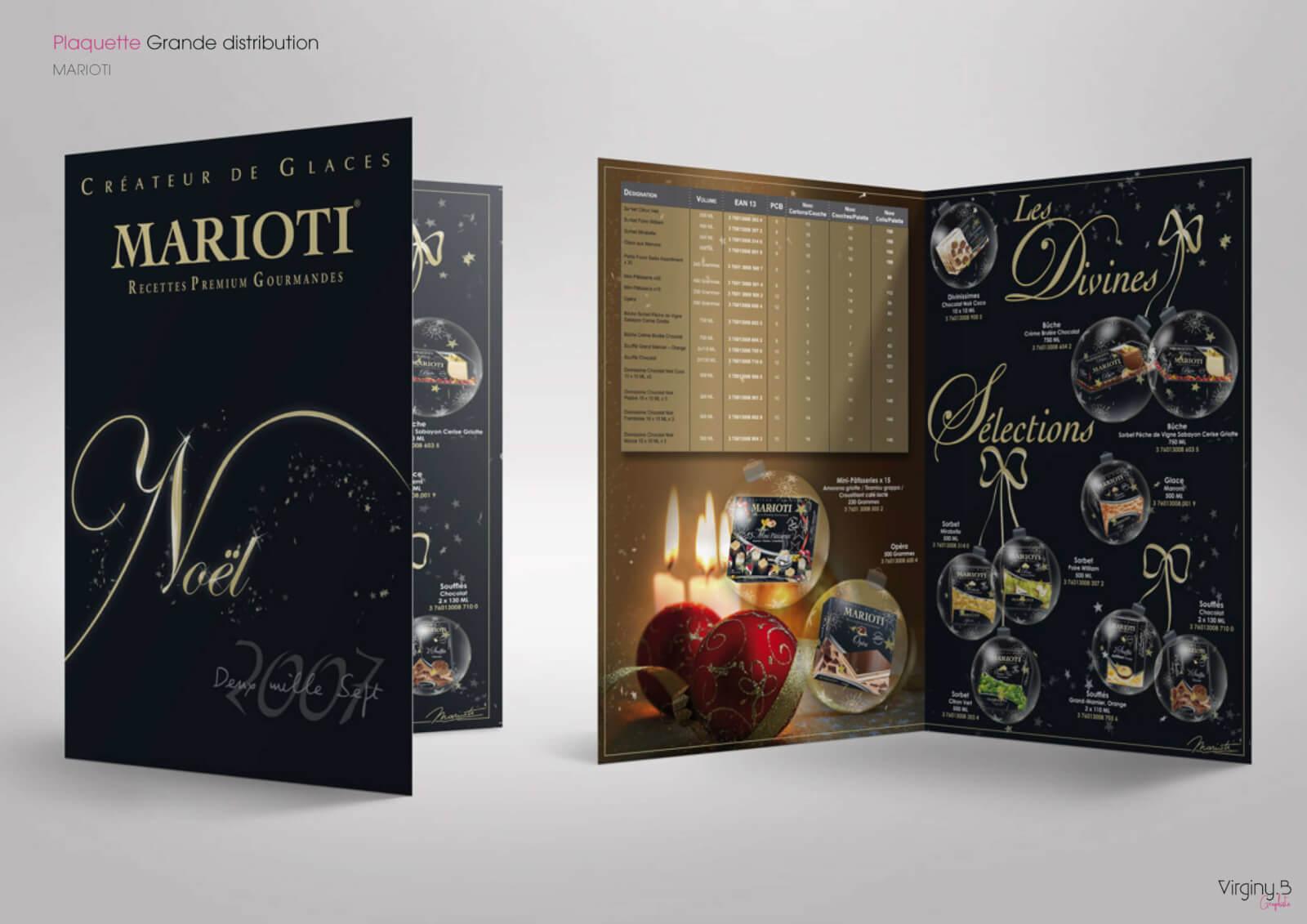 Plaquette Produits Gamme Noël Marioti