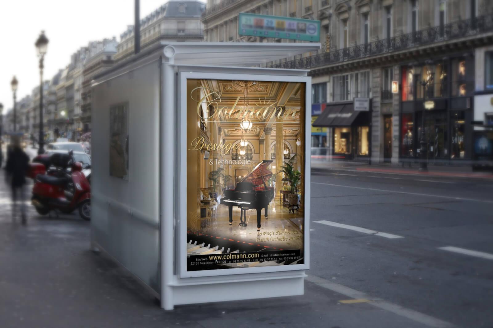 Affiche Prestige Pianos Colmann France