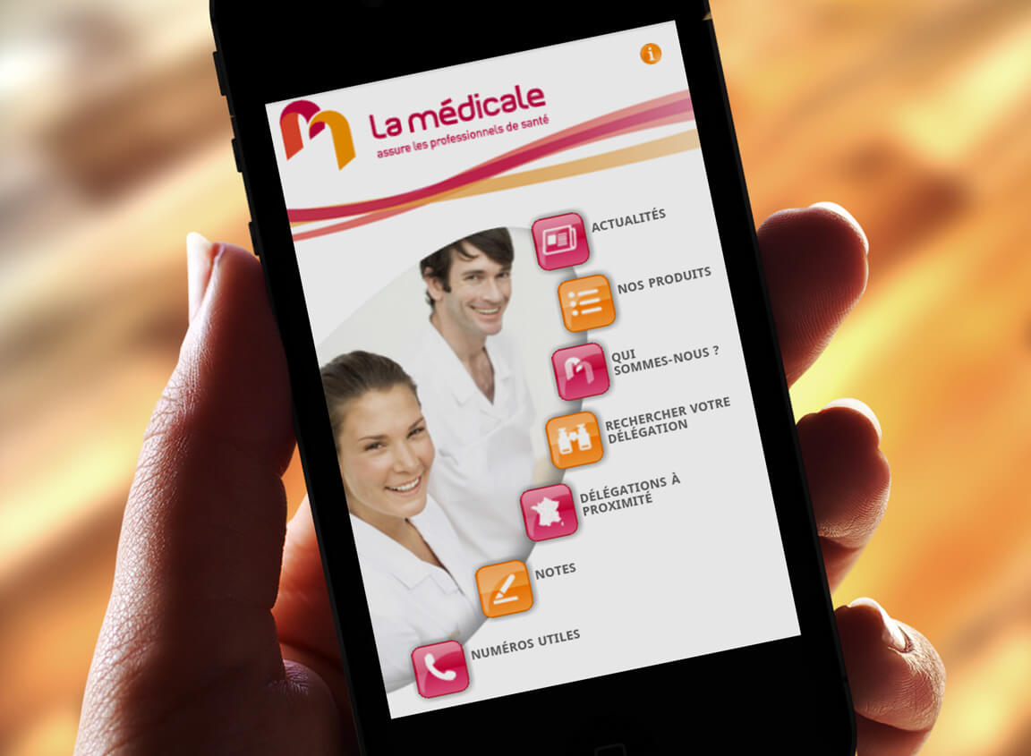 Design Application La médicale - Agence Celuga