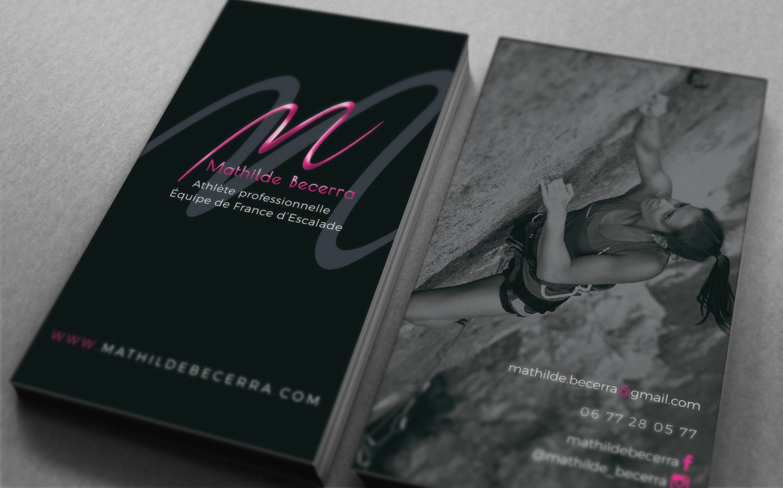 Logo et identité visuelle de Mathilde Becerra