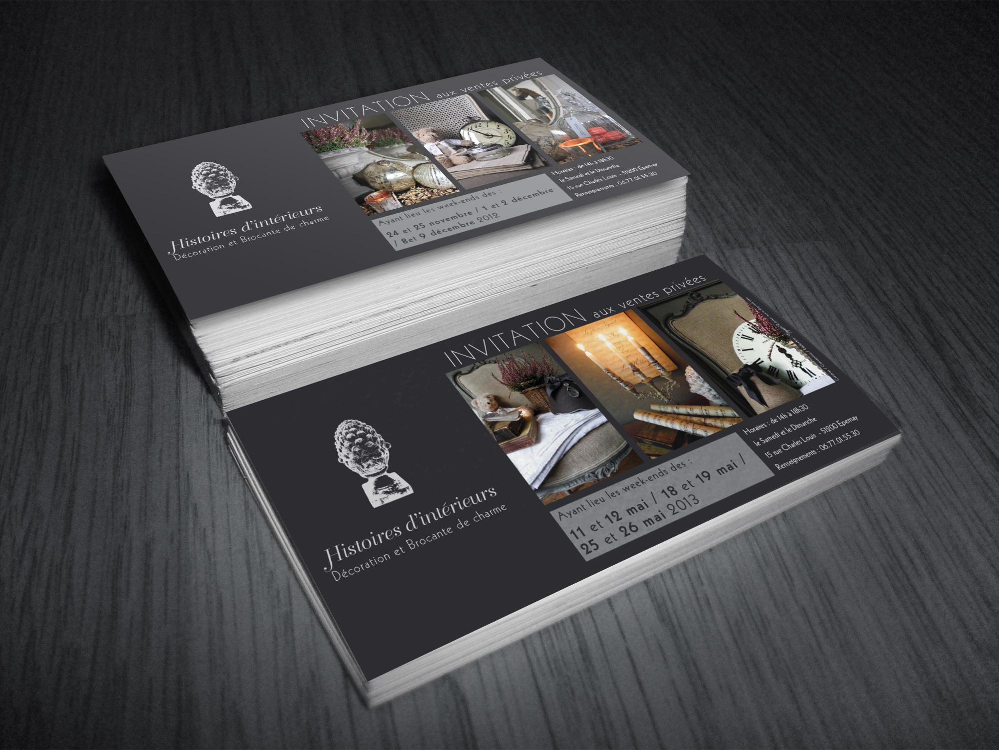 Carton d'invitation Histoires d'intérieurs