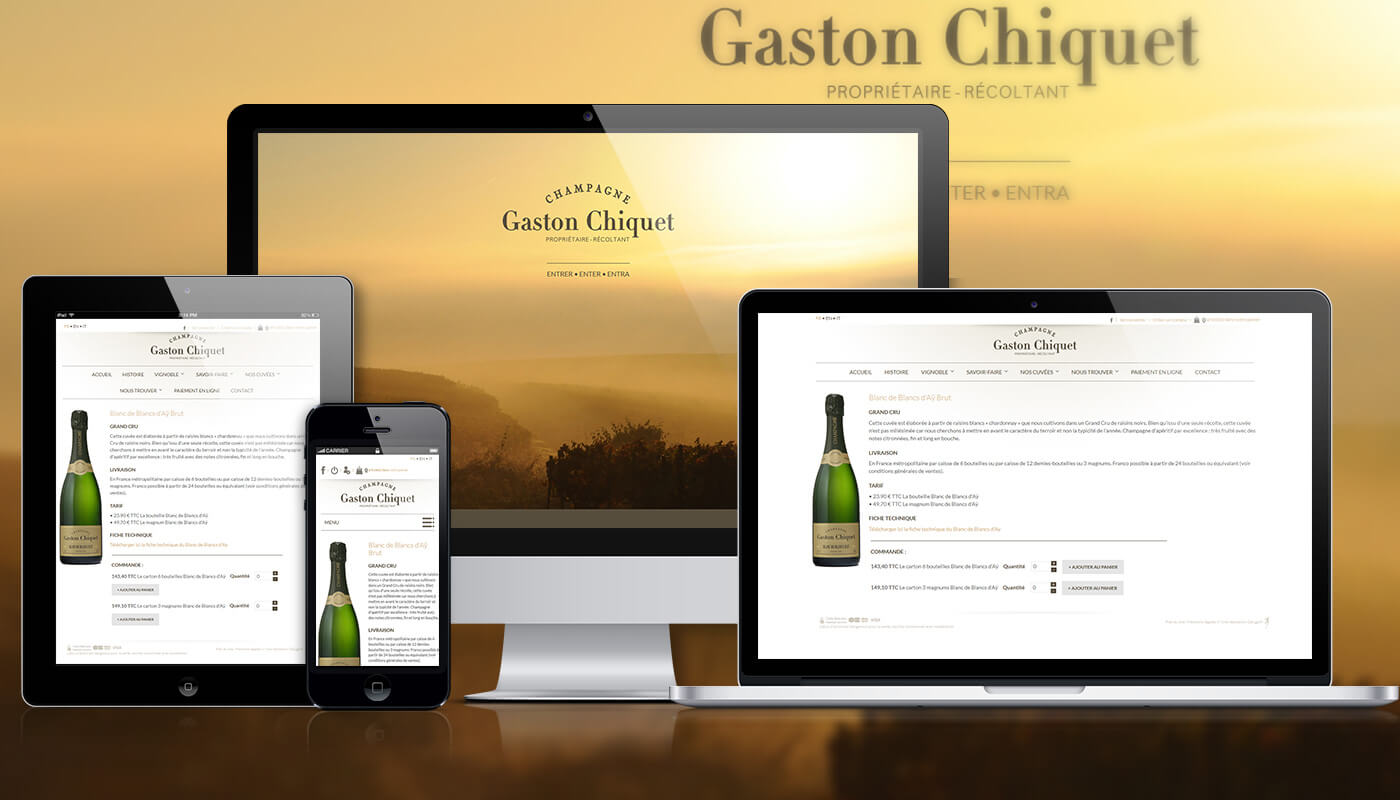 Présentation site Champagne Gaston Chiquet - Agence Celuga
