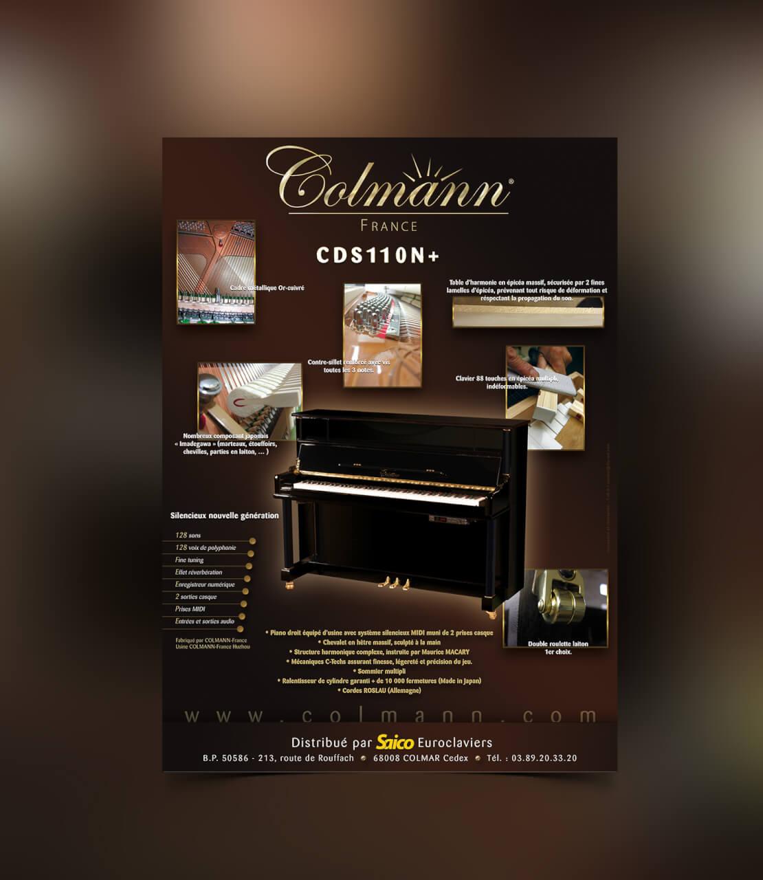 Fiche produit Pianos Colmann France