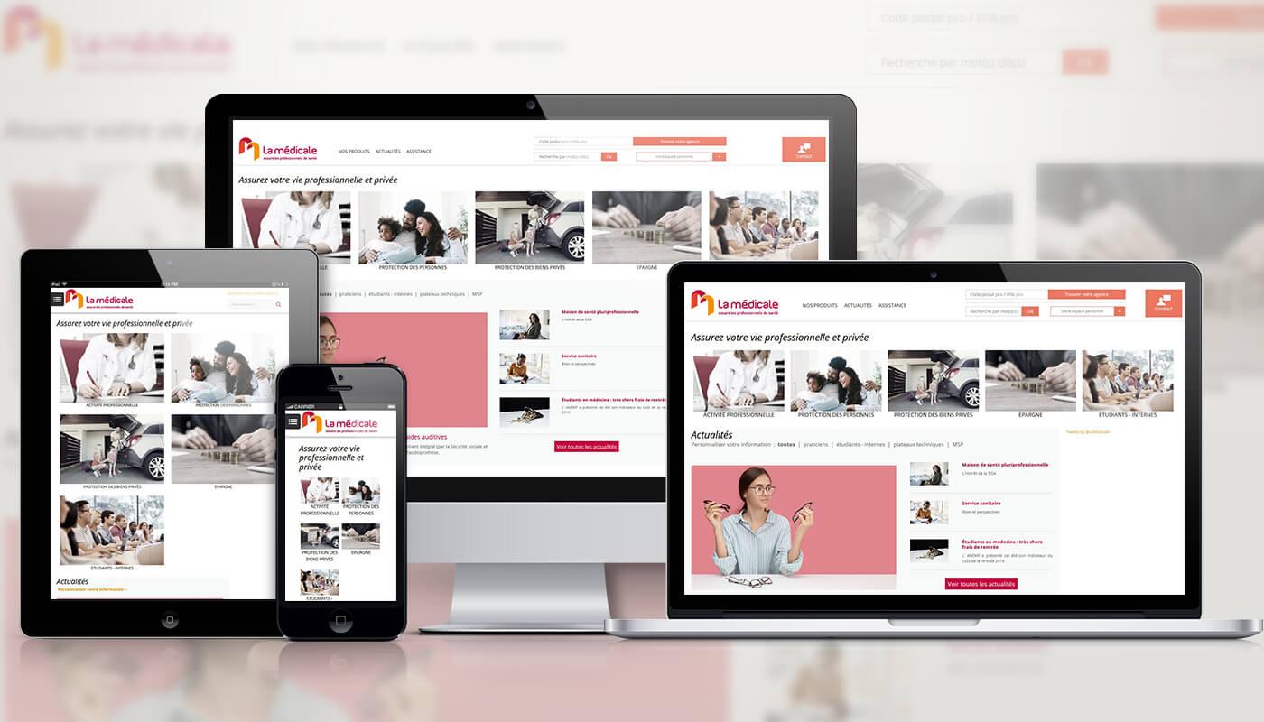 Présentationl site La médicale - Agence Celuga