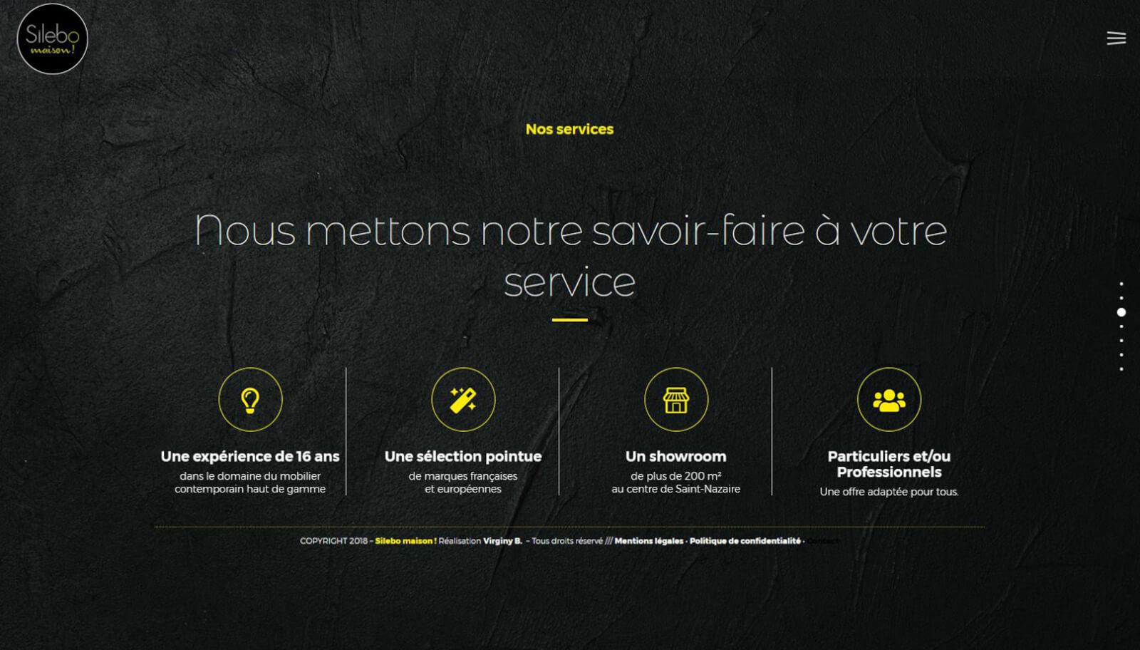 Screen slide 3 accueil site Silebo