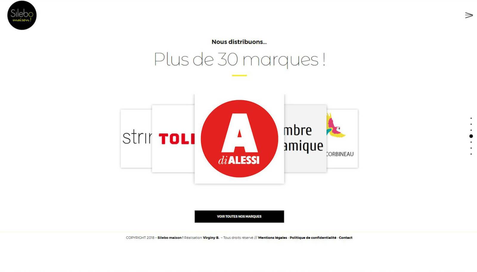 Screen slide 4 accueil site Silebo