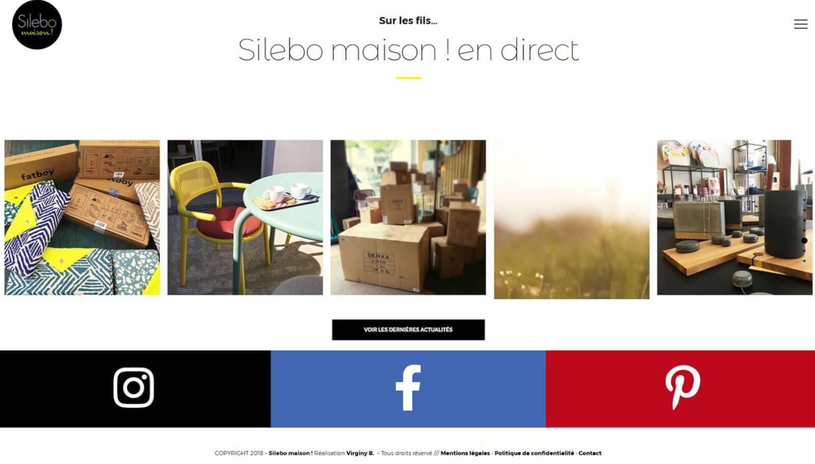 Screen slide 5 accueil site Silebo