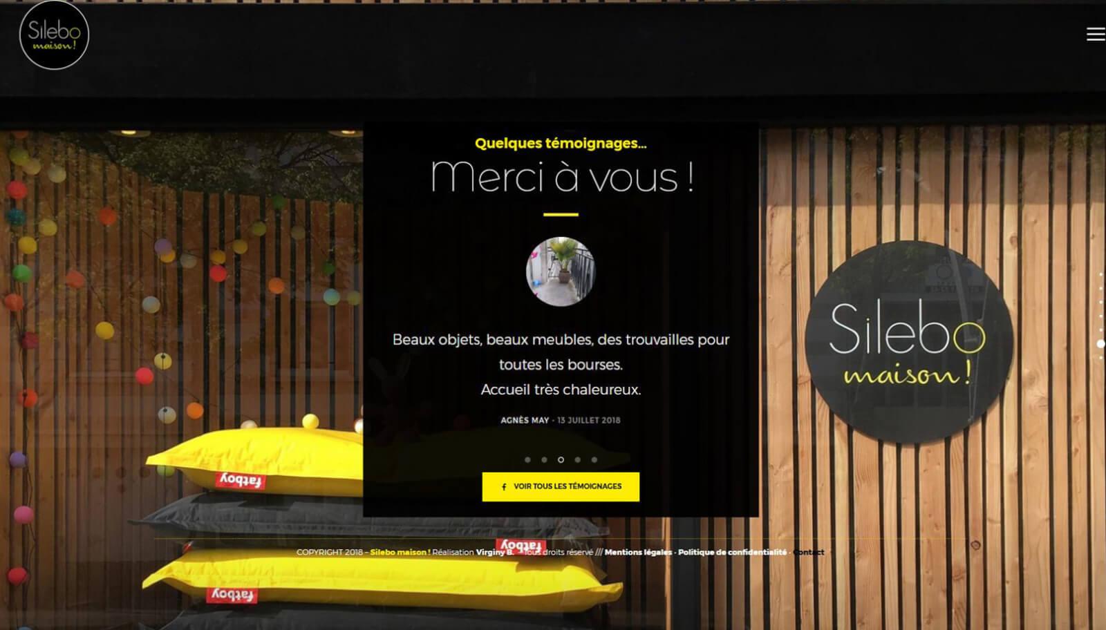 Screen slide 6 accueil site Silebo