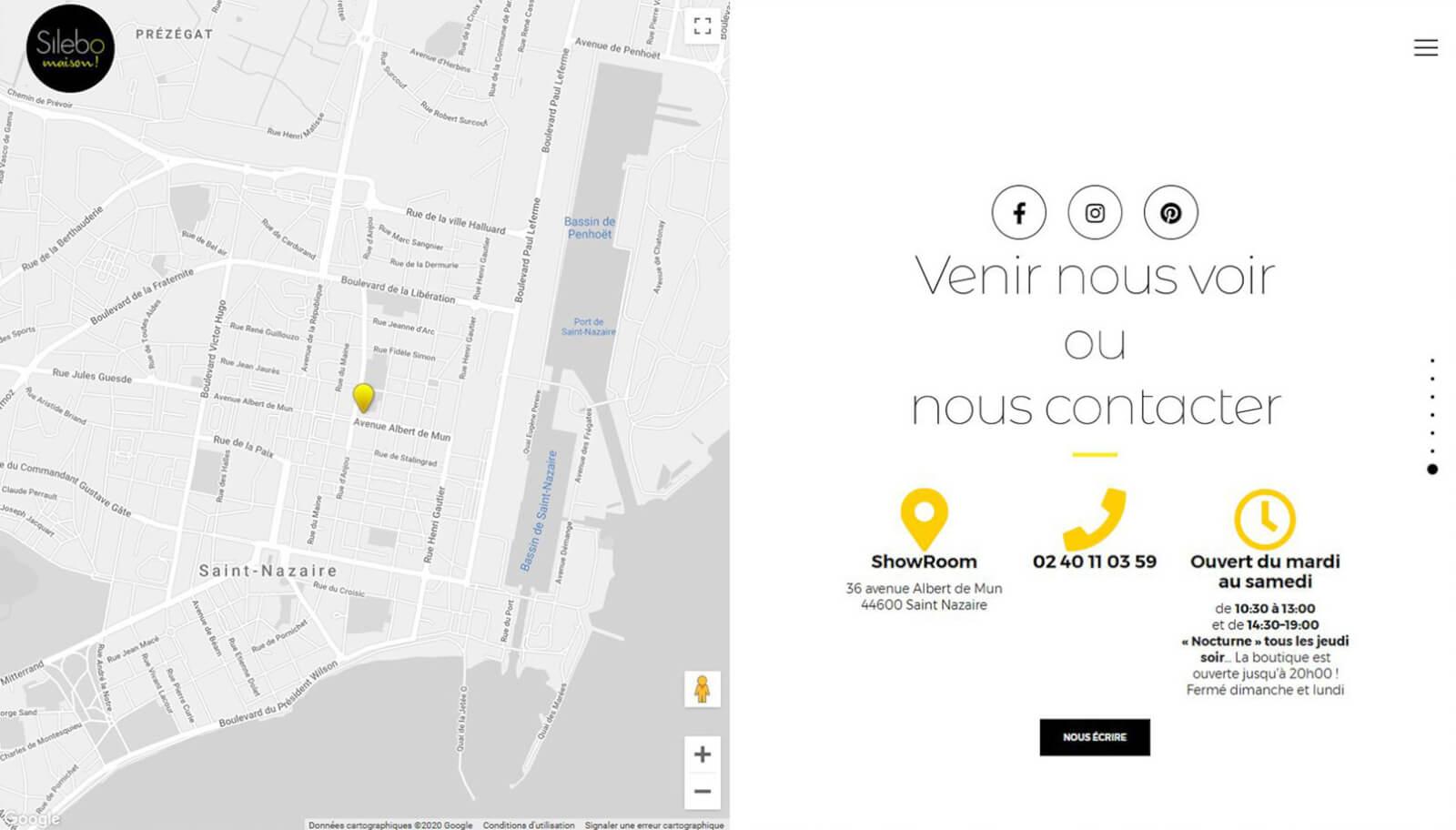 Screen slide 7 accueil site Silebo